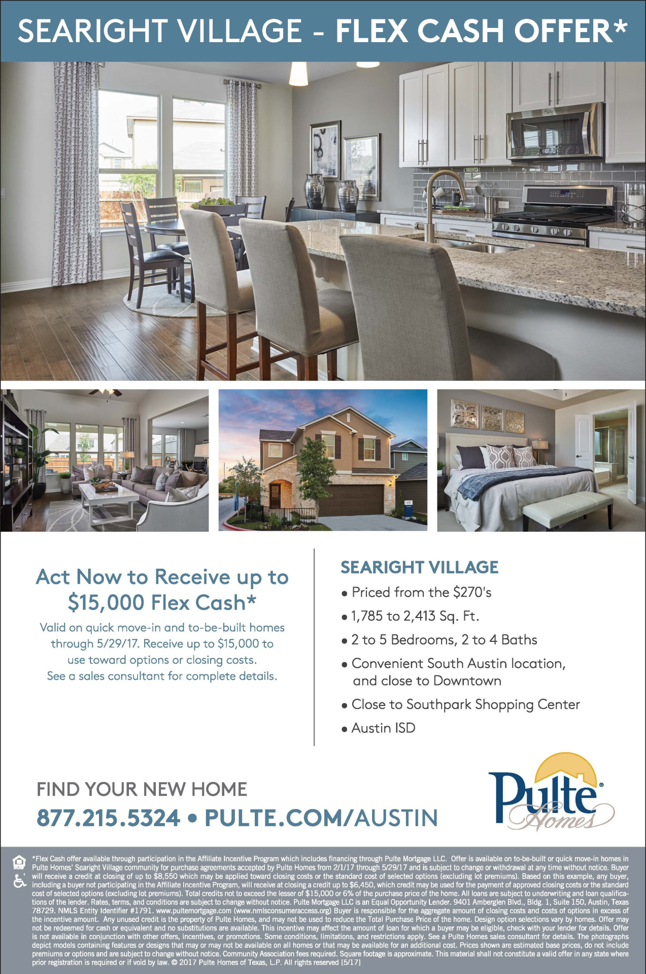 New Homes At Searight Village In Austin Texas Pulte - Pulte homes design center